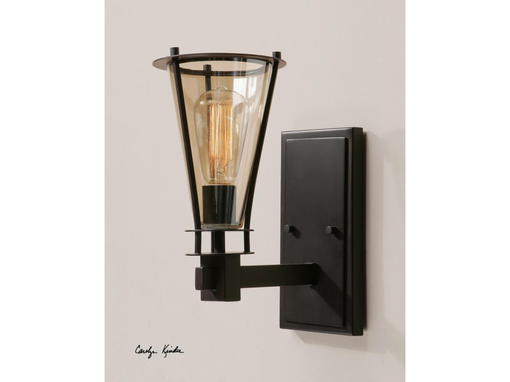 Uttermost lighting fixtures wall sconcesfrisco 1 light rustic wall sconce
