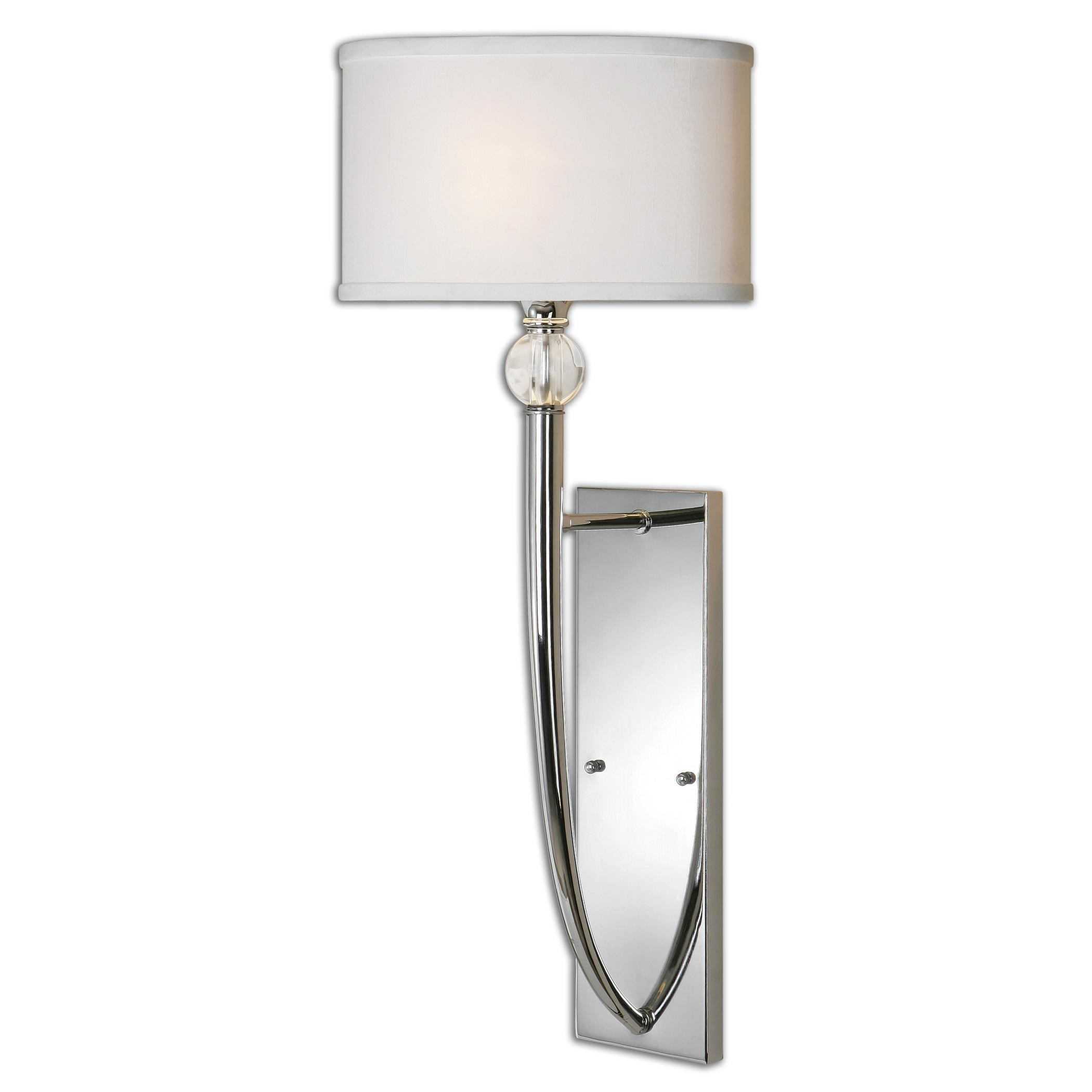 Superbe Uttermost Lighting FixturesUttermost Vanalen 1 Light Chrome Wall Sconce ...