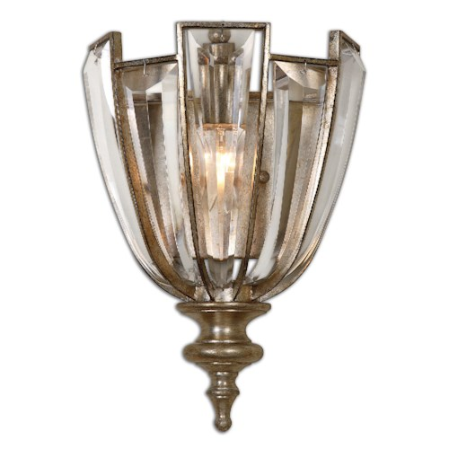 Uttermost Lighting Fixtures Uttermost Vicentina 1 Light Crystal Wall Sconce
