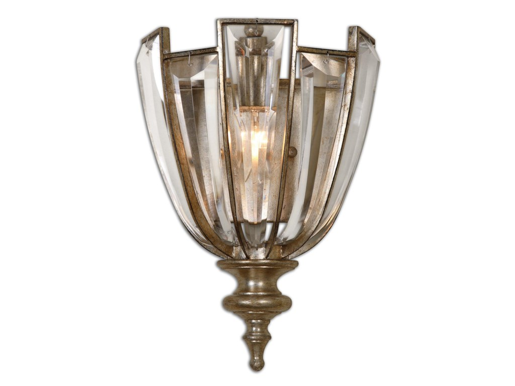 Uttermost Lighting Fixtures - Wall SconcesUttermost Vicentina 1 Light Crystal Wall Sco