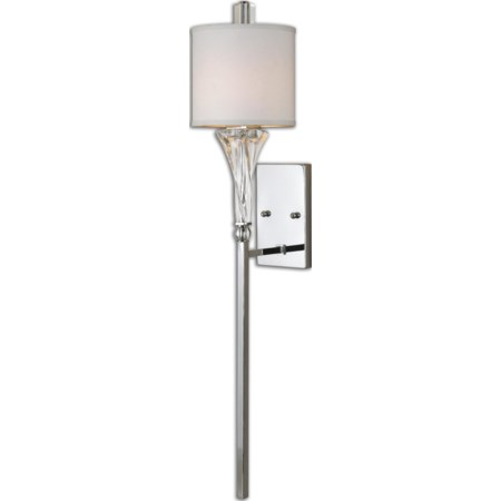Uttermost Grancona 1 Light Chrome Wall Sconc