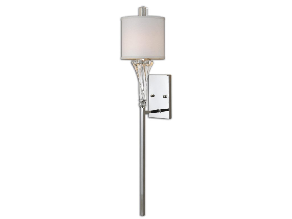 Uttermost Lighting Fixtures - Pendant LightsUttermost Grancona 1 Light Chrome Wall Sconc