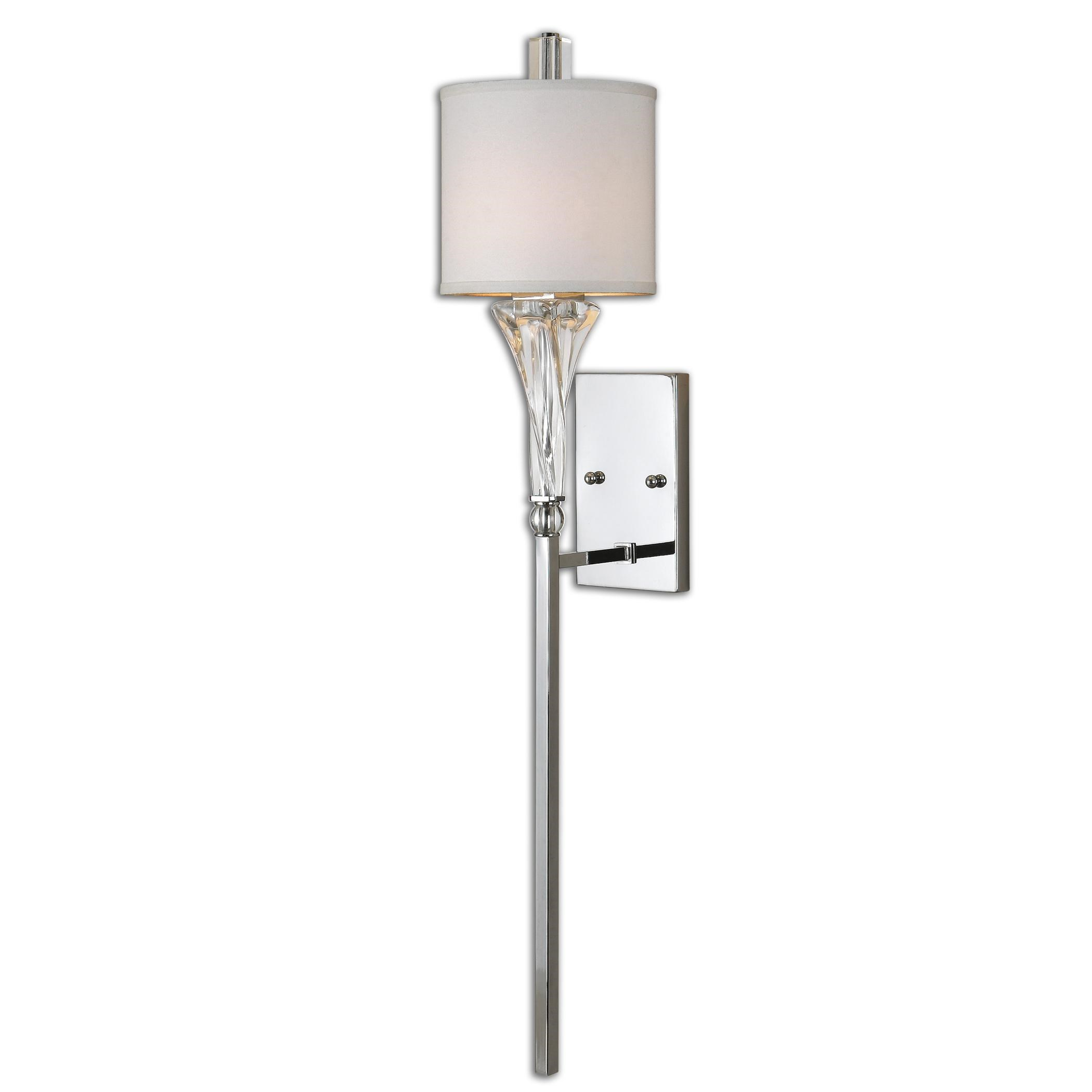 Uttermost Lighting FixturesUttermost Grancona 1 Light Chrome Wall Sconc ...