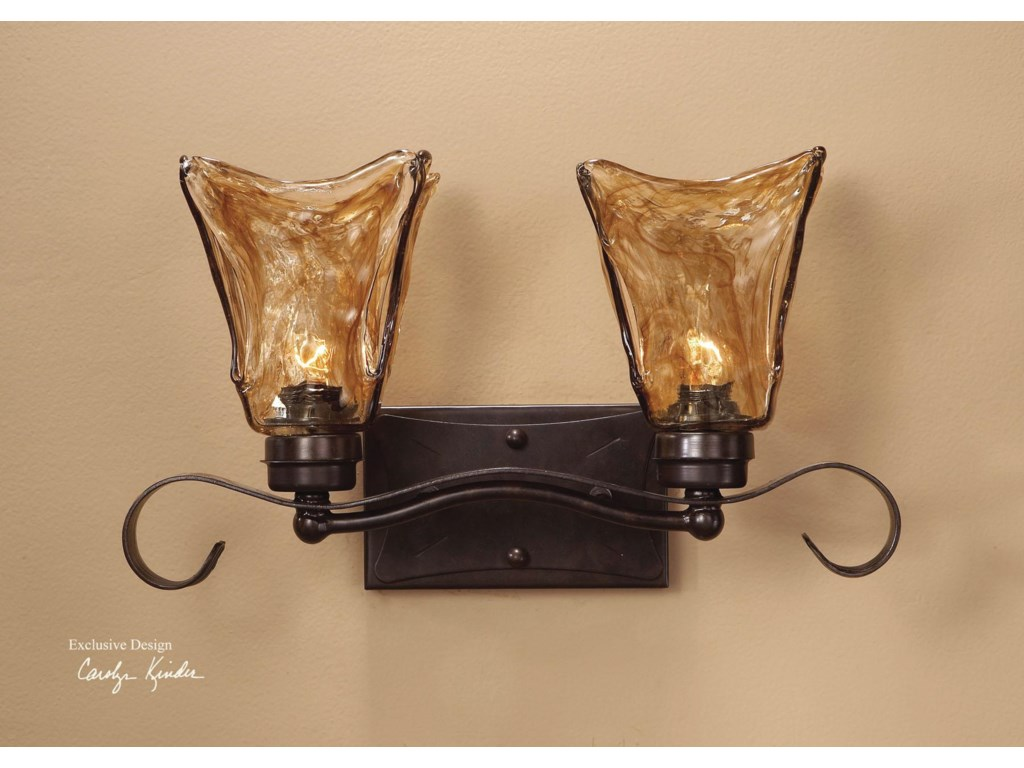 Lighting fixtures wall sconces vetraio 2 light vanity strip by uttermost