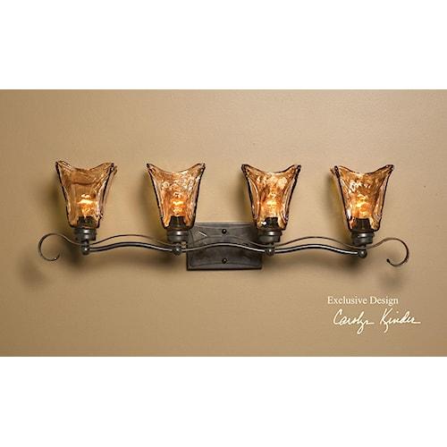 Uttermost Lighting Fixtures Vetraio 4 Light Vanity Strip