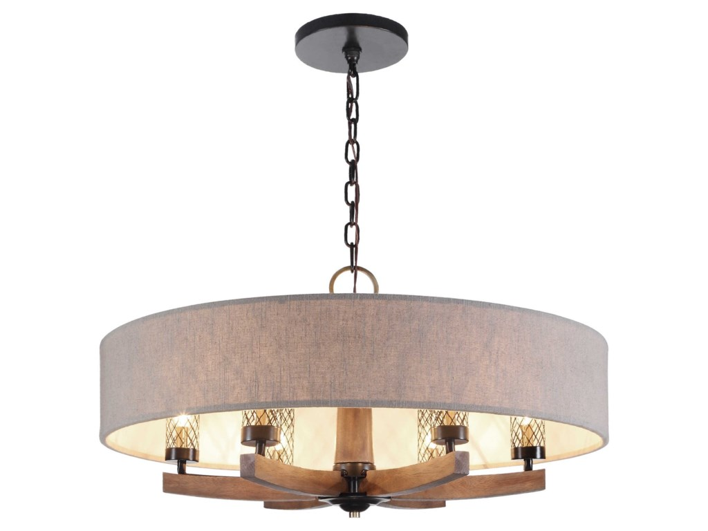 Uttermost Lighting Fixtures Chandeliers 21331 Woodall 6