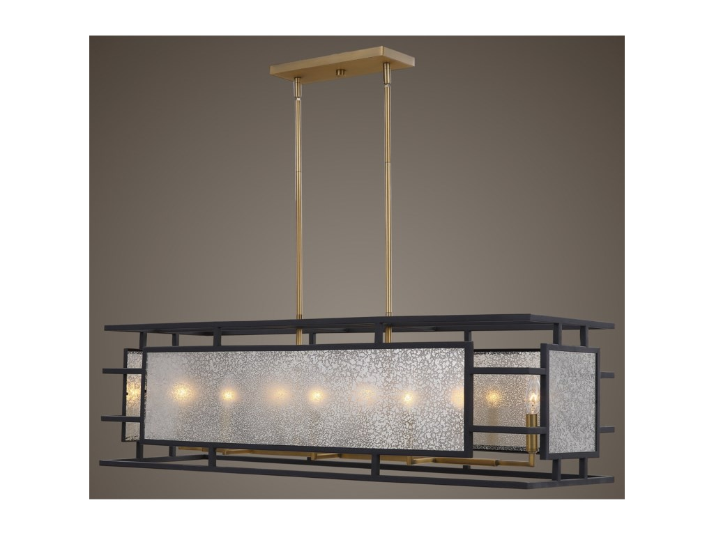 Uttermost Lighting Fixtures - ChandeliersHolmes 8 Light Linear Chandelier