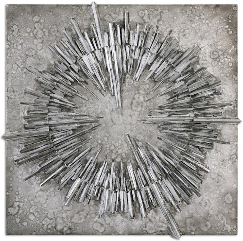 Uttermost Alternative Wall Decor Nebulus Silver Wall Art | Wayside ...