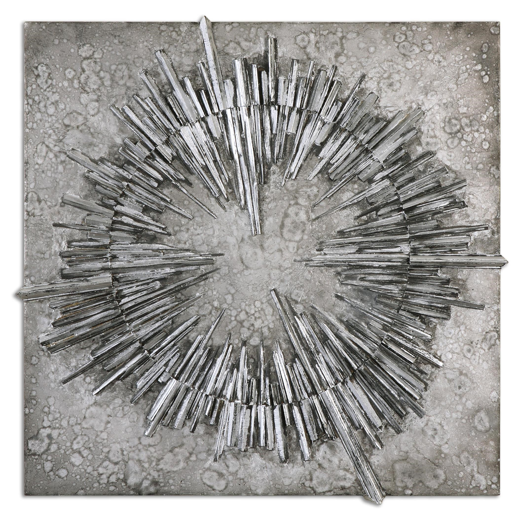 Uttermost Alternative Wall Decor Nebulus Silver Wall Art