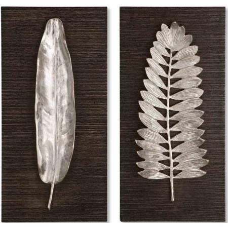 Silver Leaves Set of 2