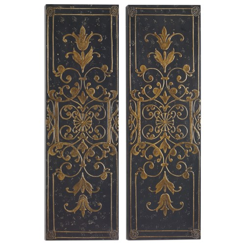 Uttermost Alternative Wall Decor Melani Decorative Panels S/2