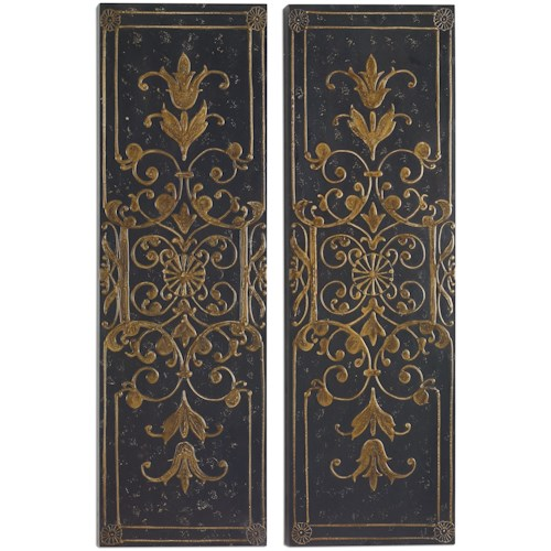 Uttermost alternative wall decor melani decorative panels s 2
