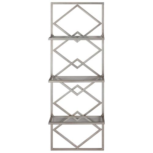Alternative wall decor silvia silver wall shelf by uttermost