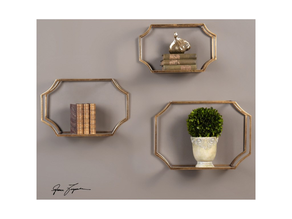 Uttermost Alternative Wall DecorLindee Wall Shelves (Set of 3)