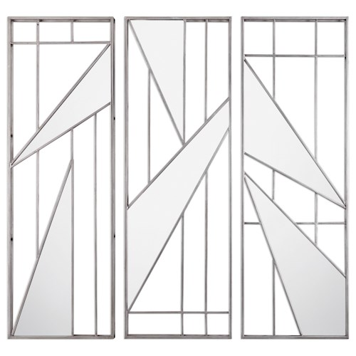 Uttermost Alternative Wall Decor  Ryker Modern Mirrored Wall Art (Set of 3)