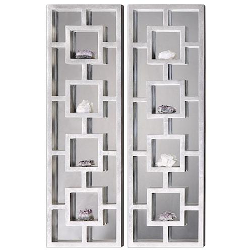 Uttermost Alternative Wall Decor  Lyndon Mirrored Shadow Box (Set of 2)