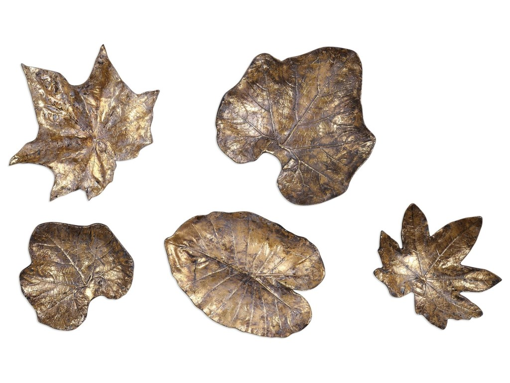 Uttermost alternative wall decor bronze leaves wall art set of 5 uttermost alternative wall decor bronze leaves wall art set of 5 hudsons furniture wall decor amipublicfo Gallery