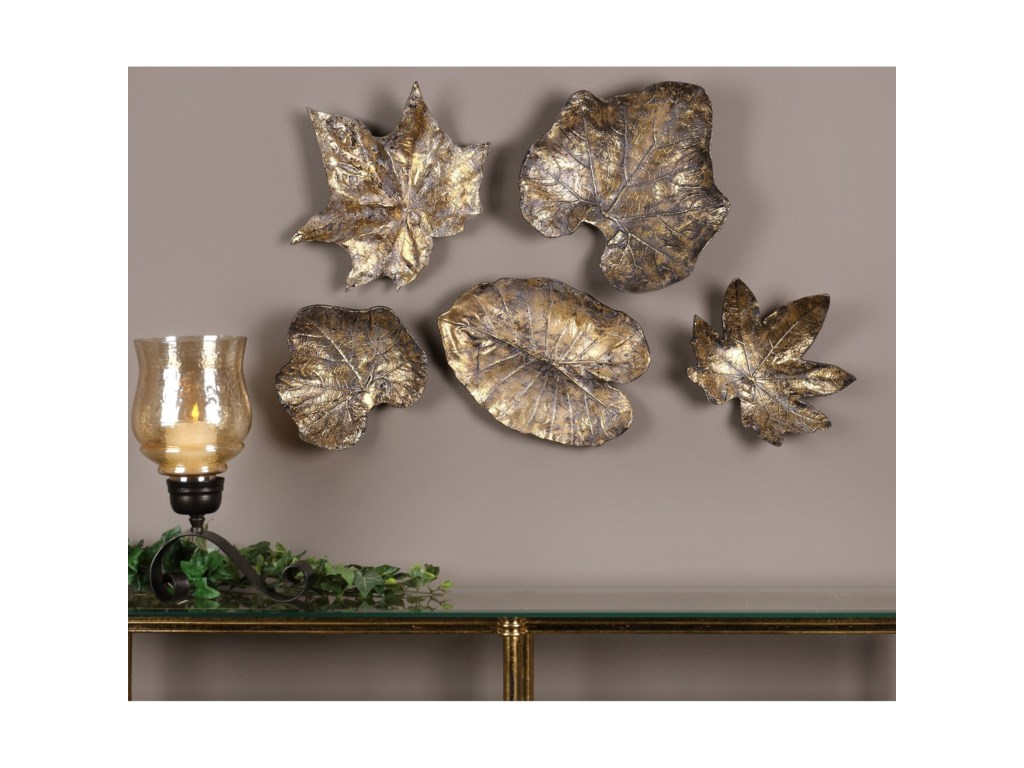 Uttermost alternative wall decor bronze leaves wall art set of 5 uttermost alternative wall decor bronze leaves wall art set of 5 amipublicfo Gallery