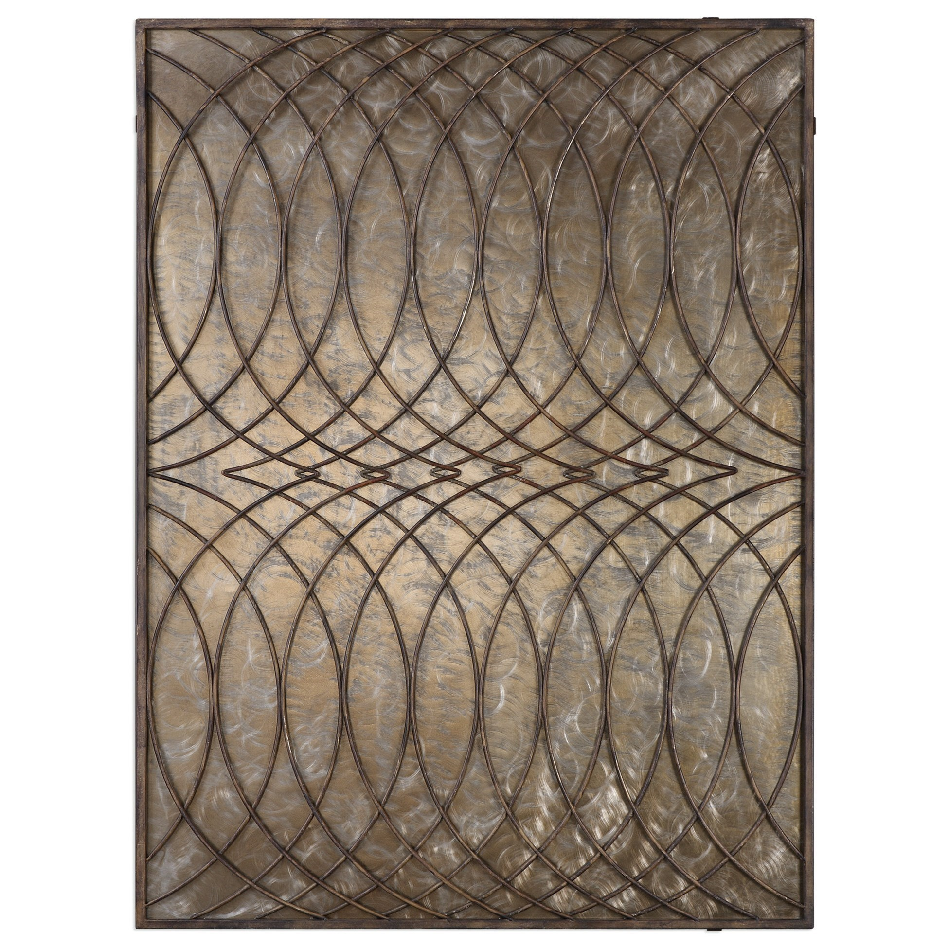 Uttermost Alternative Wall Decor Kanza Antique Bronze Wall Panel ...