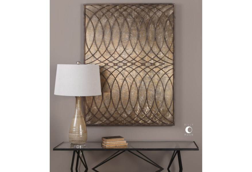 Alternative Wall Decor Kanza Antique Bronze Panel By Uttermost At Hudson S Furniture