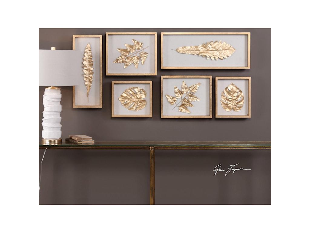 Uttermost alternative wall decor golden leaves shadow box set of uttermost alternative wall decor golden leaves shadow box set of 6 amipublicfo Gallery