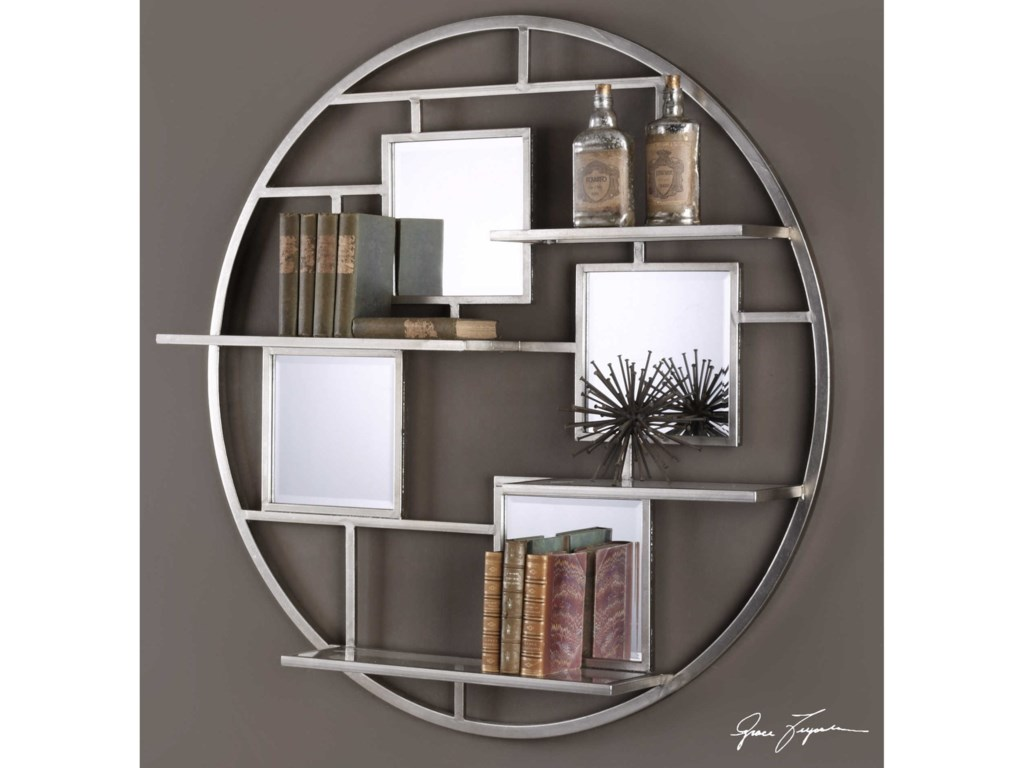 Uttermost alternative wall decor zaria mirrored round wall shelf uttermost alternative wall decor zaria mirrored round wall shelf amipublicfo Gallery