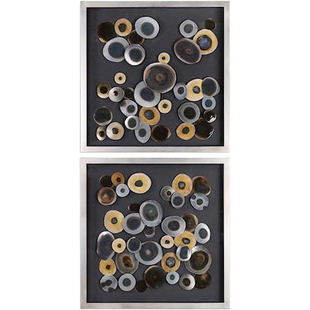 Discs Wall Art Squares (Set of 2)