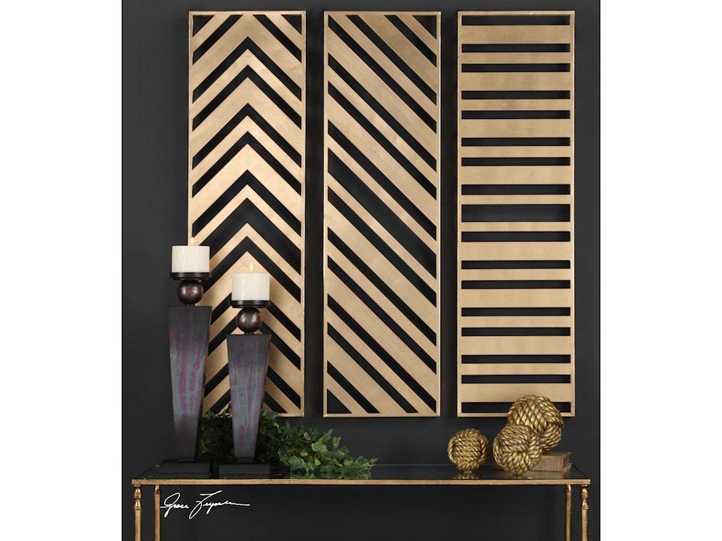 Uttermost Alternative Wall DecorZahara Gold Panels Set of 3
