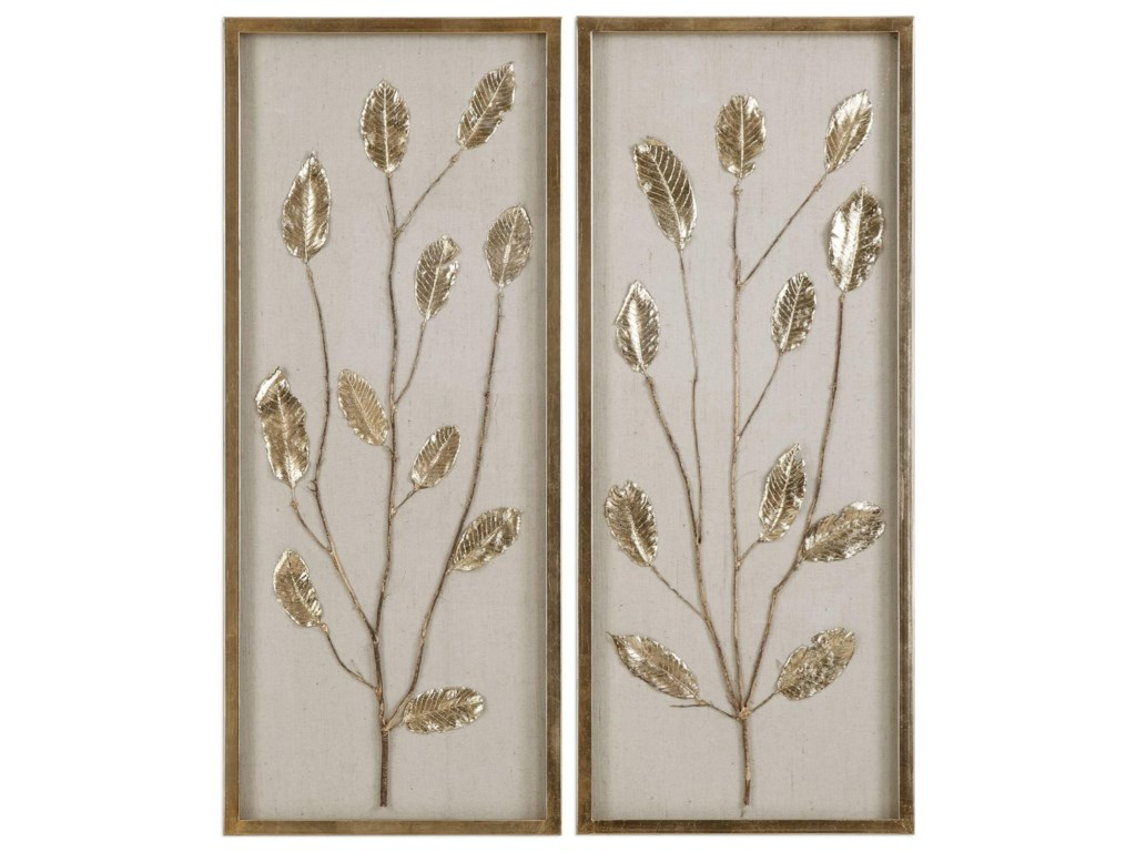 Uttermost alternative wall decor branching out gold leaf panels uttermost alternative wall decor branching out gold leaf panels set of 2 miskelly furniture wall decor amipublicfo Gallery