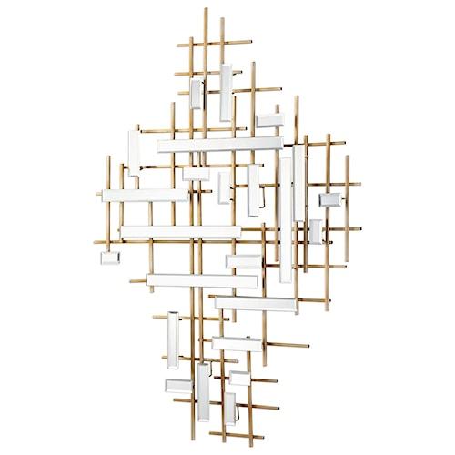 Uttermost alternative wall decor apollo gold mirrored wall art