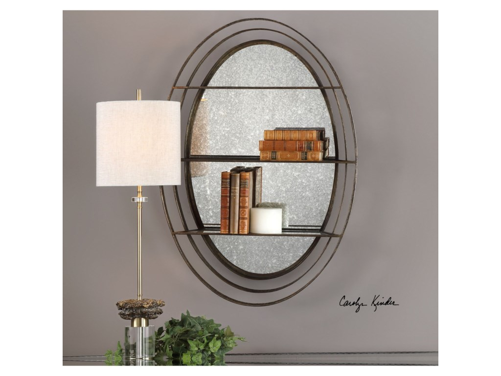 Uttermost Alternative Wall DecorCarine Antique Mirrored Wall Shelf
