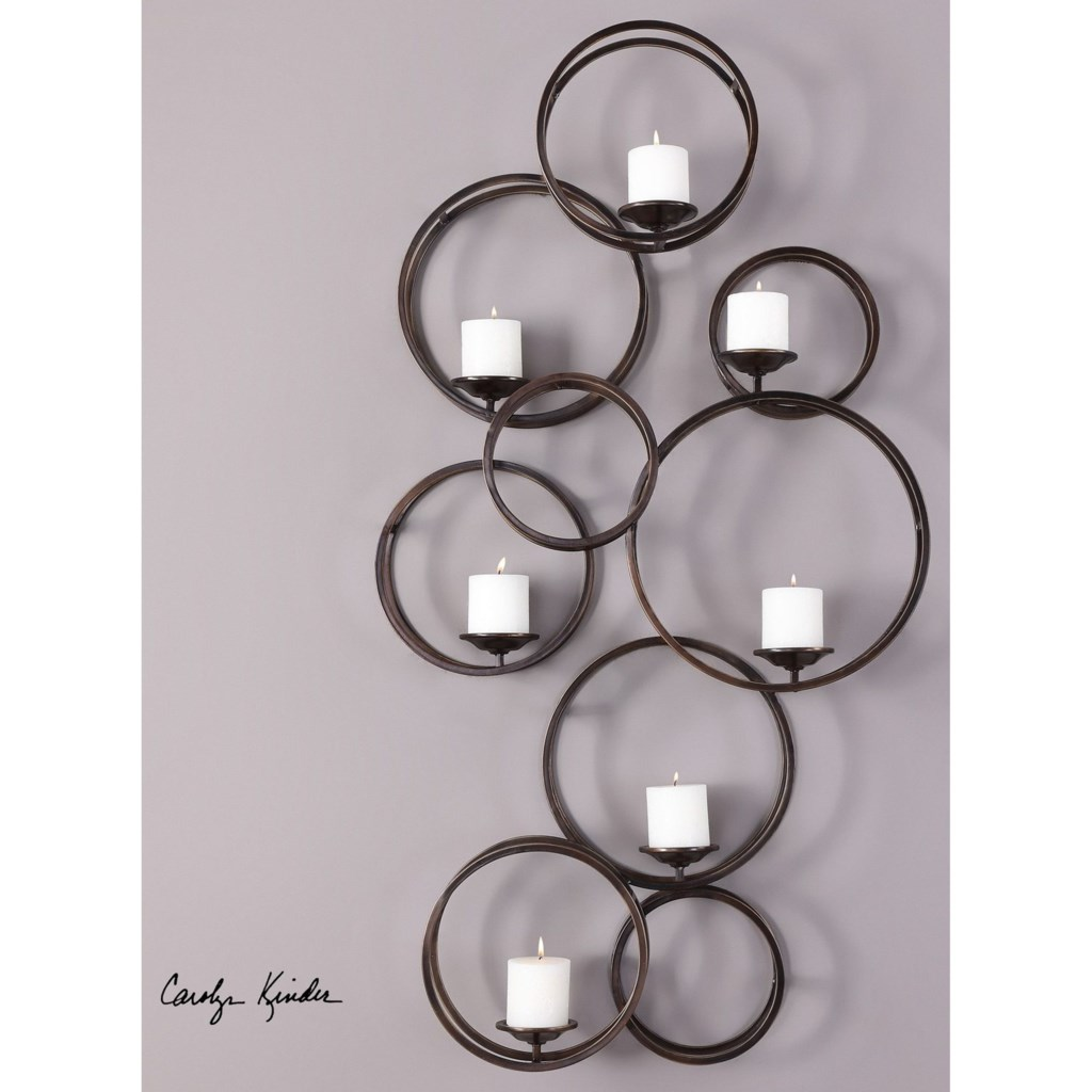 Alternative Wall Decor Liya 7 Candle Iron Wall Sconce By Uttermost