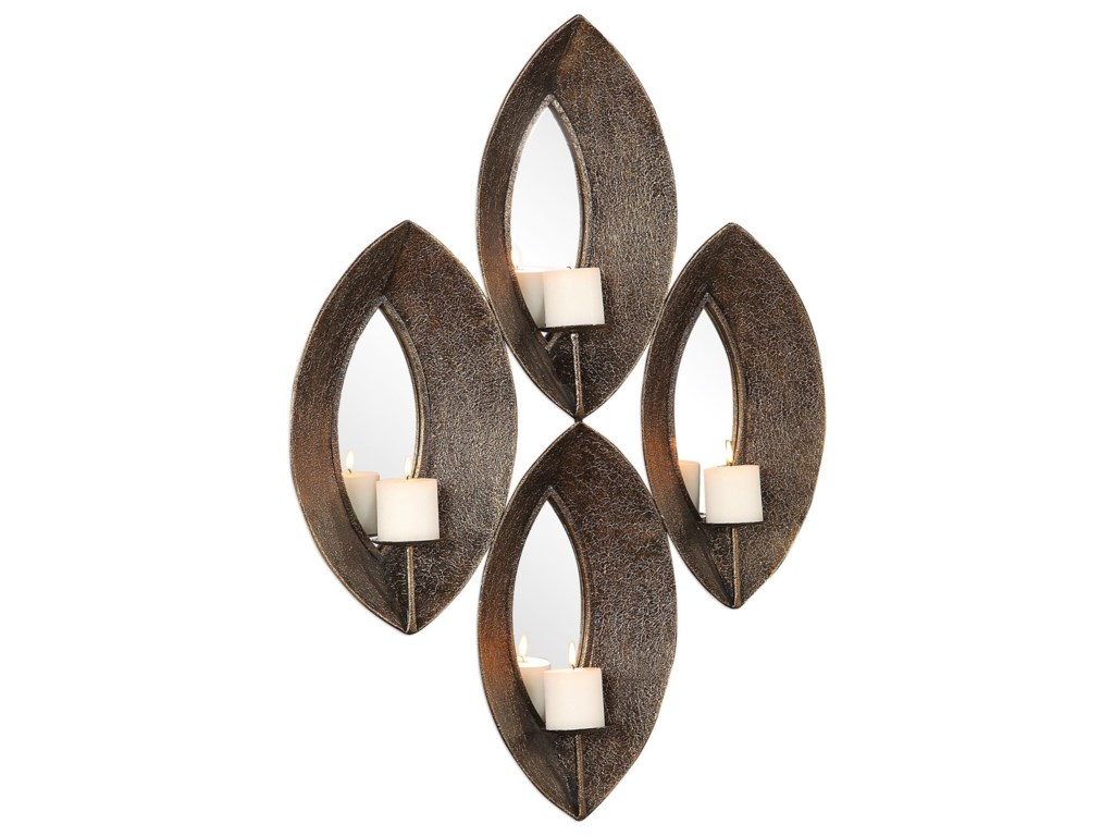 Uttermost Alternative Wall DecorNina Antique Bronze 4 Candle Sconce