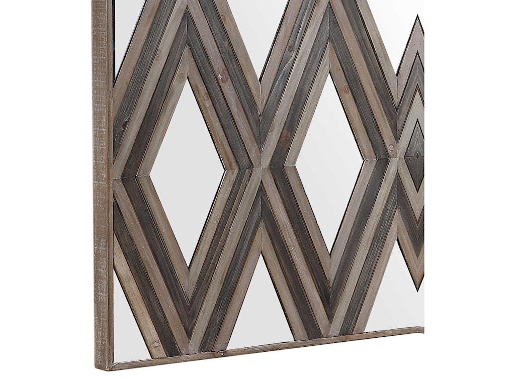 Uttermost Alternative Wall DecorTahira Geometric Square Wall Mirror