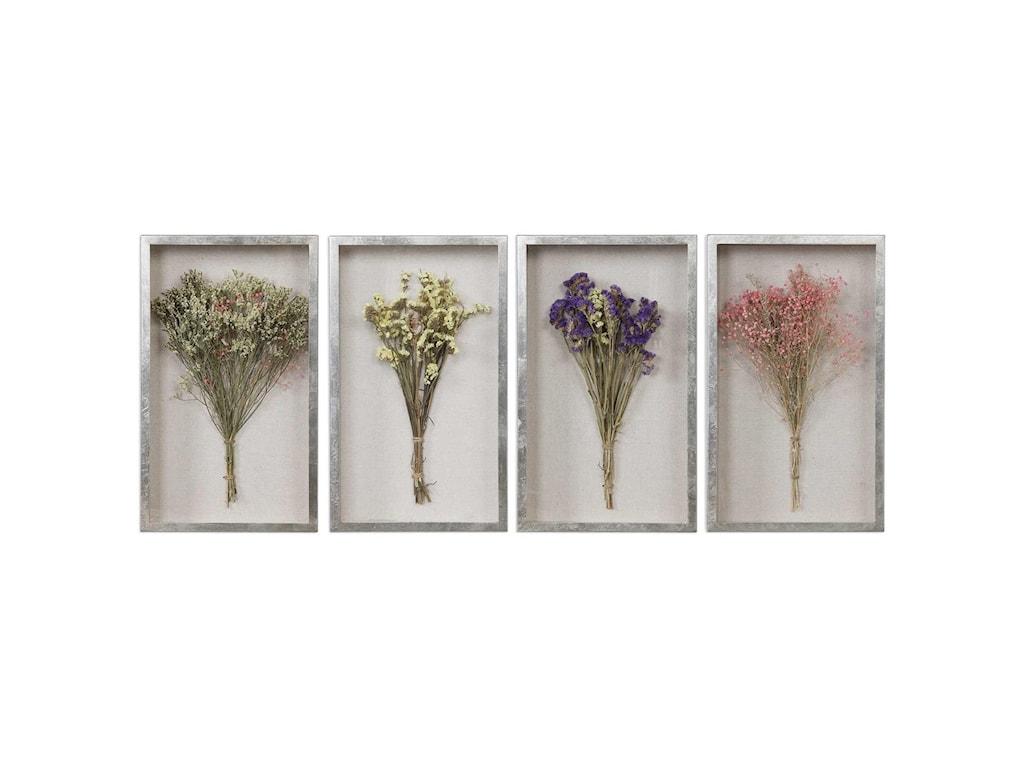Uttermost Alternative Wall DecorSummer Bouquets Shadow Box Set/4