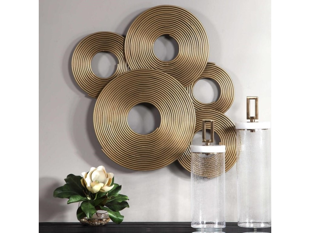 Uttermost Alternative Wall DecorAhmet Gold Rings Wall Decor