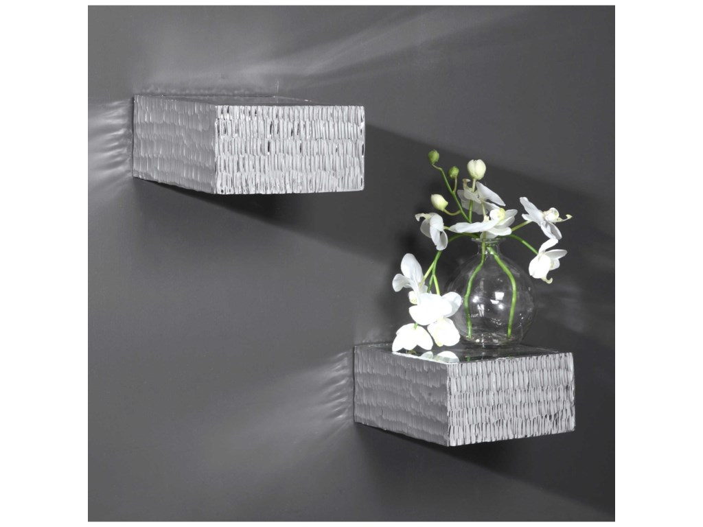 Uttermost Alternative Wall DecorJessamine Silver Wall Shelves, S/2