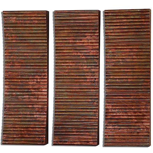Uttermost Alternative Wall Decor Adara Copper Wall Art, Set of  3
