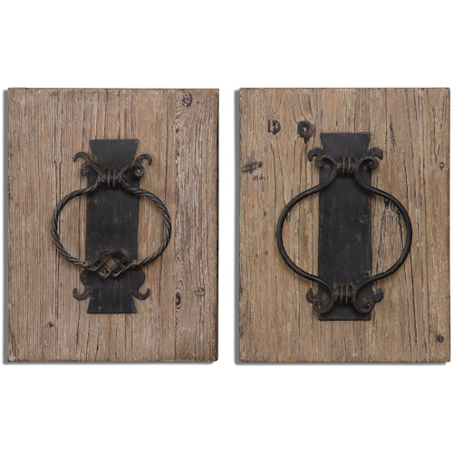 Uttermost Alternative Wall Decor 07654 Rustic Door Knockers Wall Art ...