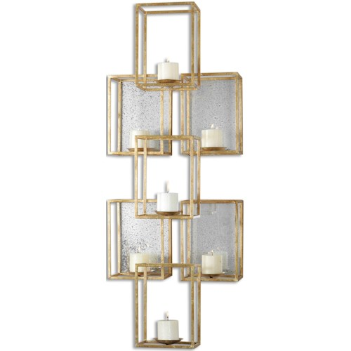 Uttermost Alternative Wall Decor Ronana Mirrored Sconce
