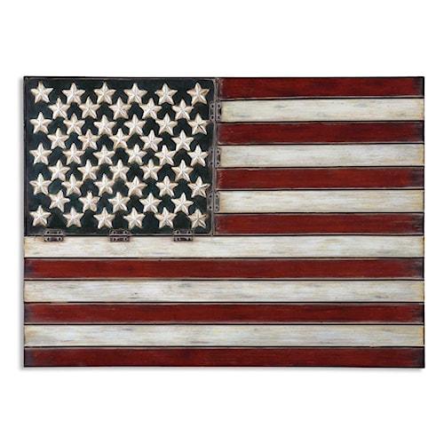 Uttermost Alternative Wall Decor American Flag