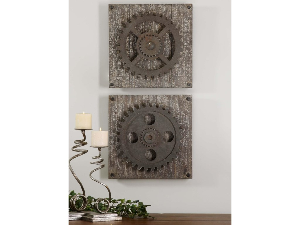 Uttermost Alternative Wall DecorRustic Gears