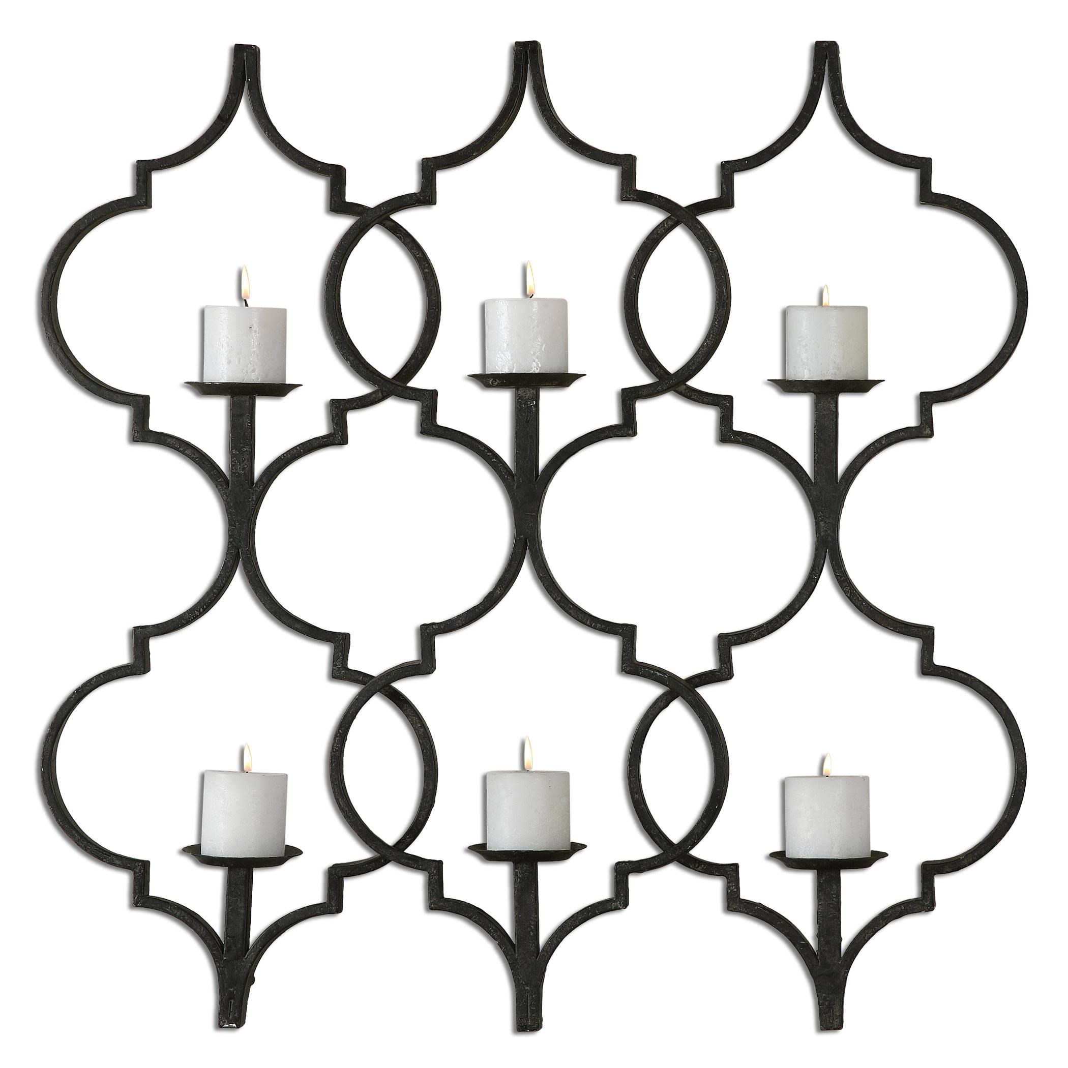 Uttermost Alternative Wall Decor Zakaria Metal Candle Wall Sconce   Del Sol  Furniture   Wall Décor Part 51