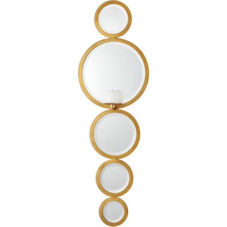 Hailey Mirrored Candle Wall Sconce