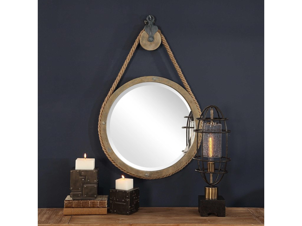 Uttermost Mirrors - RoundMelton Round Pulley Mirror