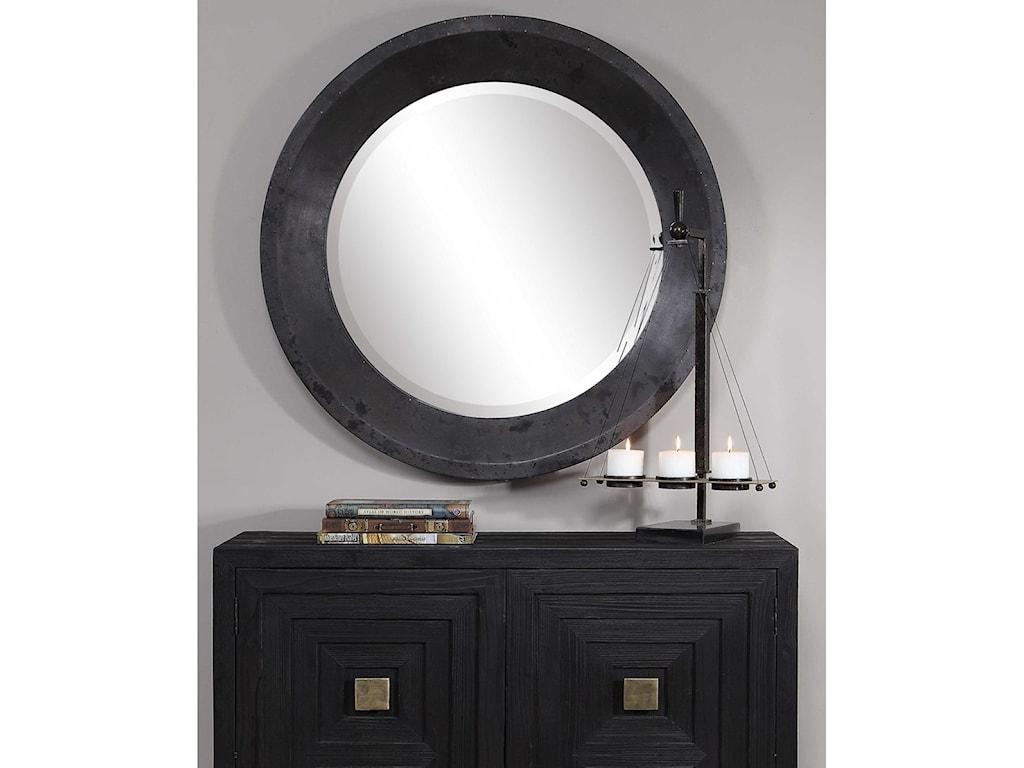 Uttermost Mirrors - RoundFrazier Round Industrial Mirror