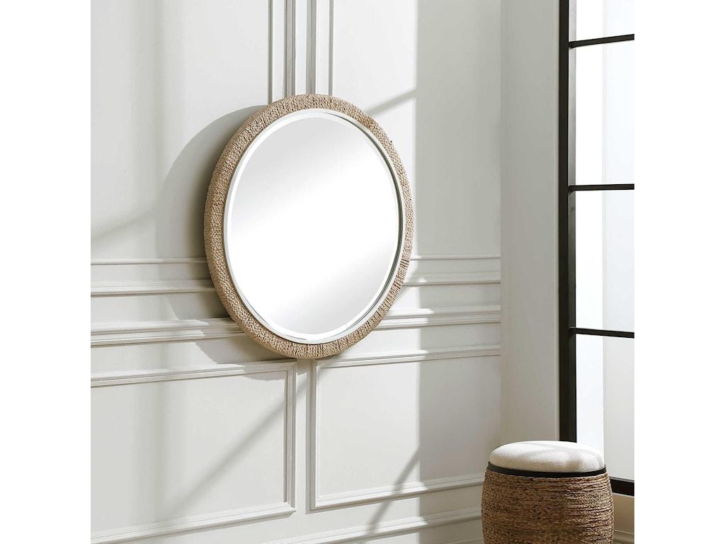 Uttermost Mirrors - RoundCarbet Round Mirror