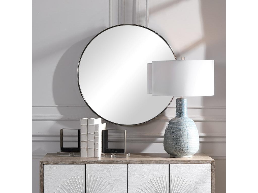 Uttermost Mirrors - RoundCoulson Nickel Round Mirror