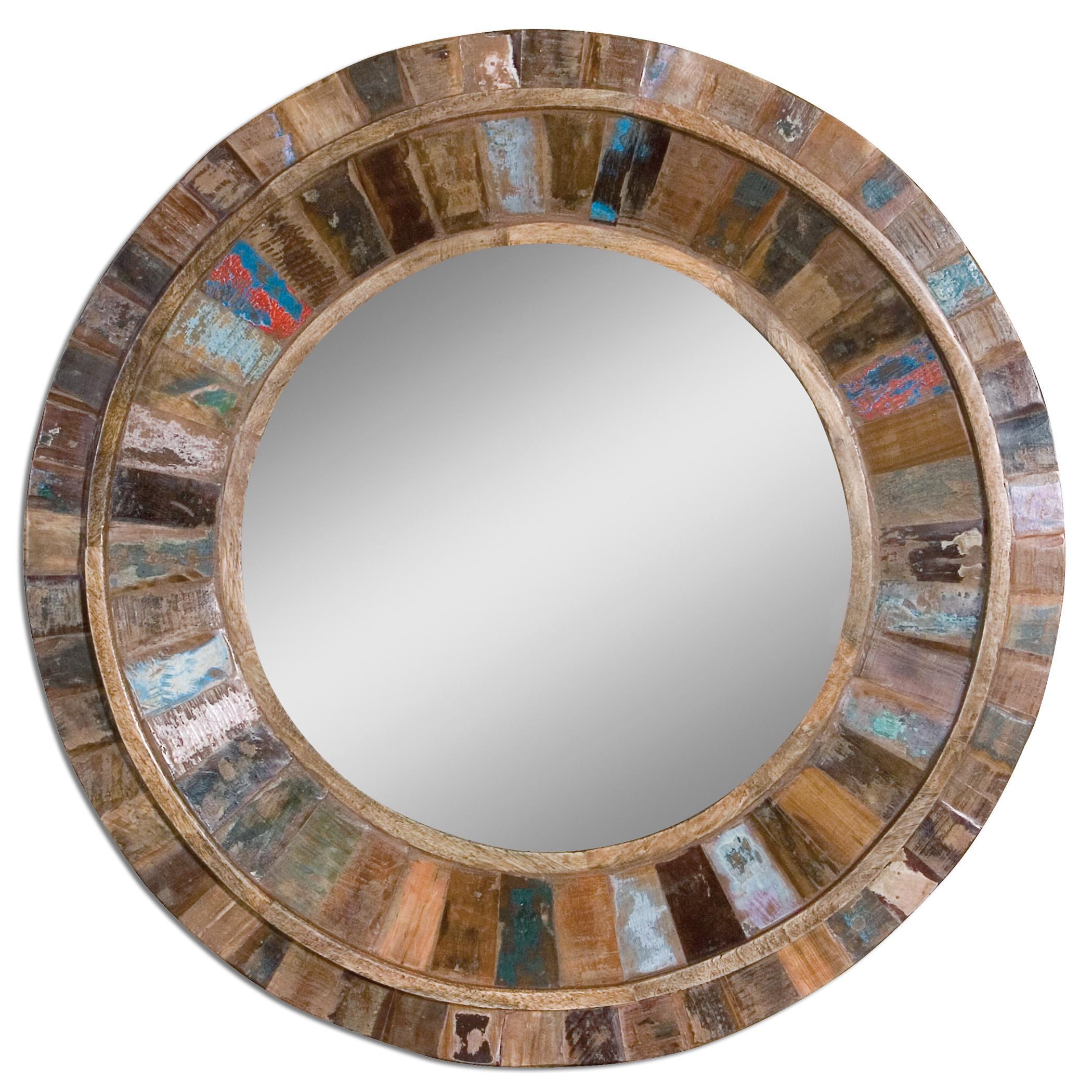 Uttermost Mirrors Jeremiah Round Wood Mirror