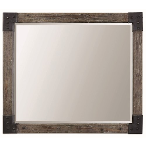Uttermost Mirrors Nelo Weathered Wood Mirror